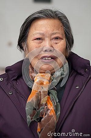 Older woman s portrait