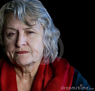 Older Woman Scowling
