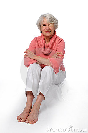 Free Older Woman Sitting Royalty Free Stock Image - 5170256