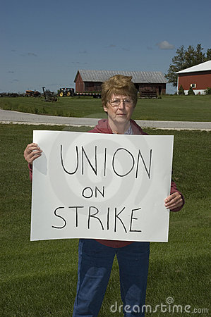 Older Woman on Strike, Blue Collar Worker
