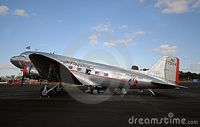 The oldest flying DC-3 airplane Editorial Stock Photo