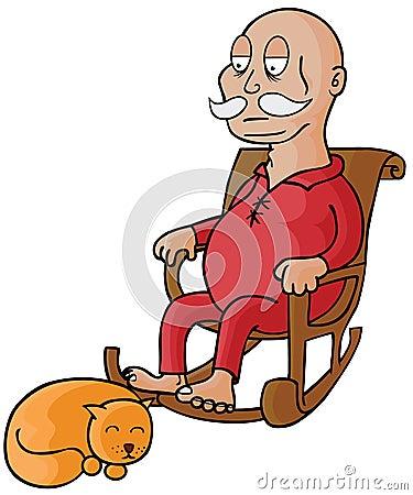 Oldman & his Cat