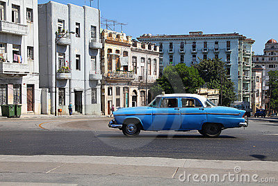 Oldtimer car in Cuba Editorial Stock Image