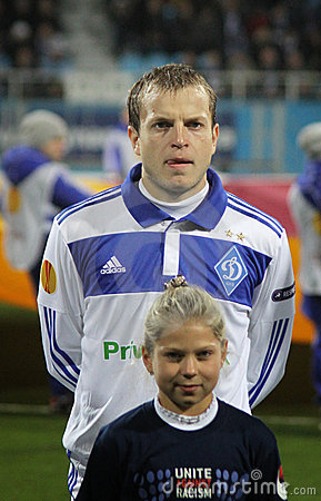 Oleh Gusev of Dynamo Kyiv Editorial Photo
