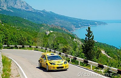 Oleksandr Saliuk on the IRC Prime Yalta Rally 2011 Editorial Stock Image