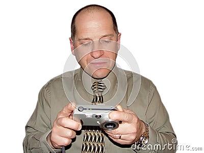 Olhando fotos na câmera