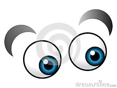 Olho dos desenhos animados