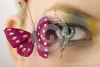 Olho e borboleta