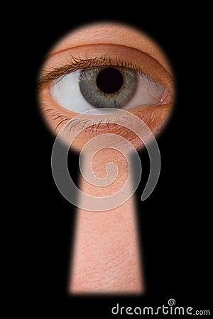 Olho no buraco da fechadura