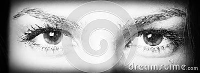 Olhos expressivos