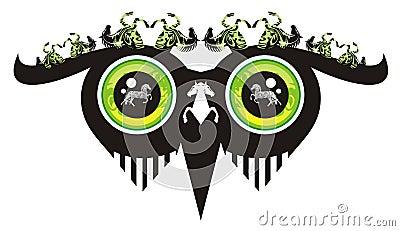 Olhos terríveis da coruja