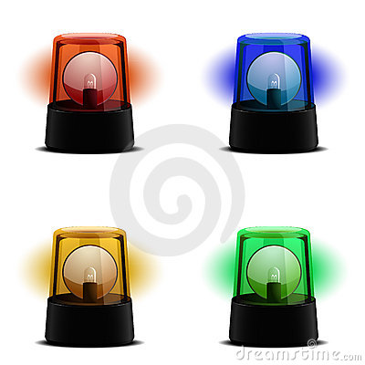 Olika exponerande lampor