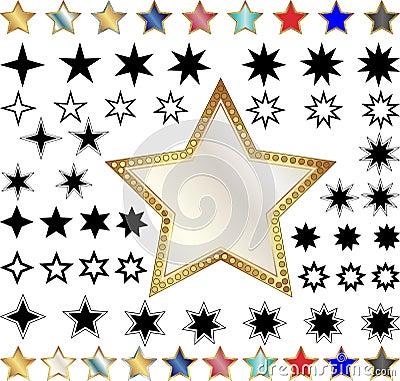 Olika stjärnor