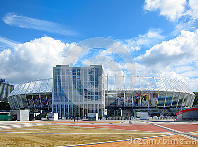 Olimpiyskiy National Sports Complex, Kiev Ukraine Editorial Photography
