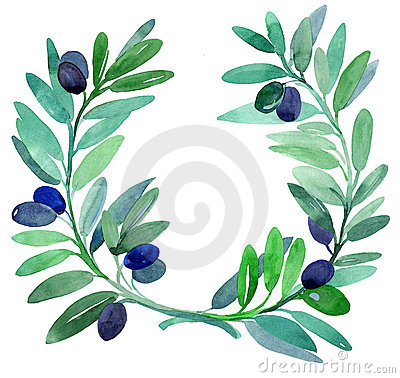 Free Olive Branches. Stock Images - 19127304