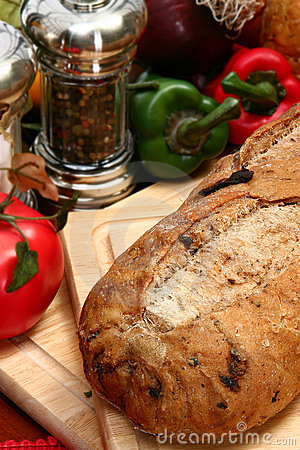Free Olive Bread Loaf In Kitchen Royalty Free Stock Photography - 5475877