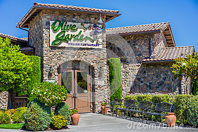 The Olive Garden Restaurant Editorial Stock Image Image 61312004
