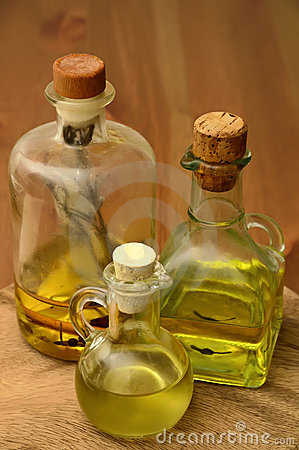 Olive and herbal oil