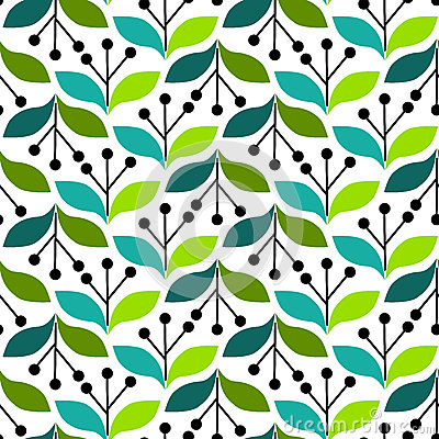Olive Leaves Seamless Background