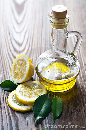Free Olive Oil And Lemon Stock Image - 13369331