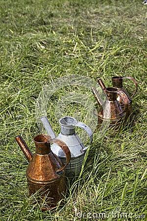 Olive oil ewers of Kirkpinar wrestling