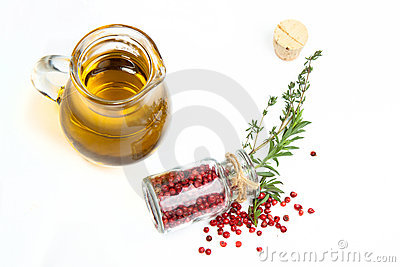 Olive oil with herb