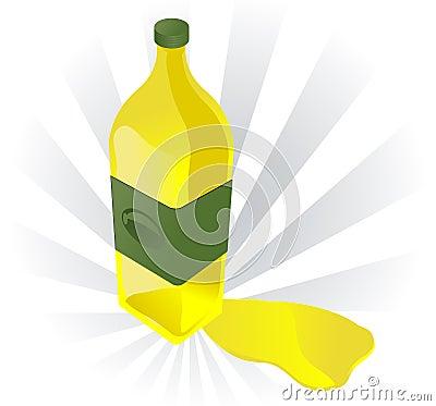 Olive oil illustration