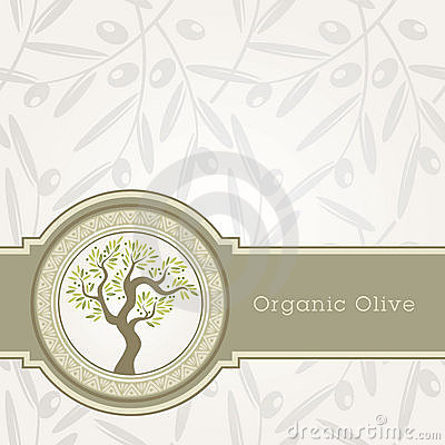 Free Olive Oil Label Template Stock Images - 20952814