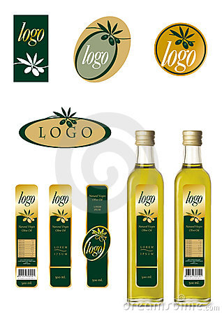Olive oil logo and label set