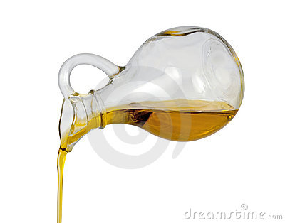 Olive Oil Pour (with clipping path)