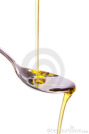 Free Olive Oil Poured Into Spoon Royalty Free Stock Image - 15737306