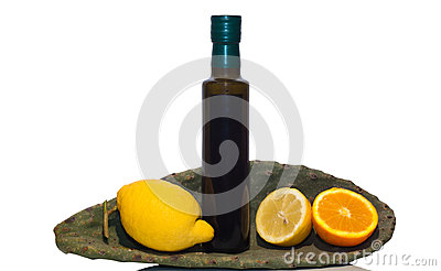 Olive oil and sicilian fruits