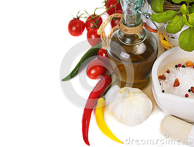 Olive oil with spices