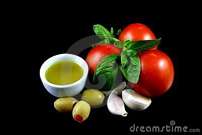 Olive Oil, Tomatoes, Garlic