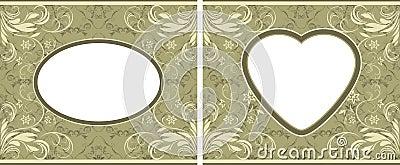 Olive ornamental frames