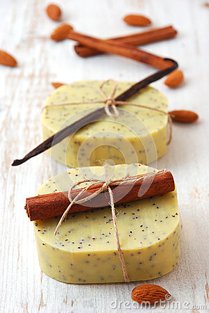 Olive soap with ingredients