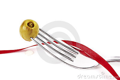 Olive tape fork