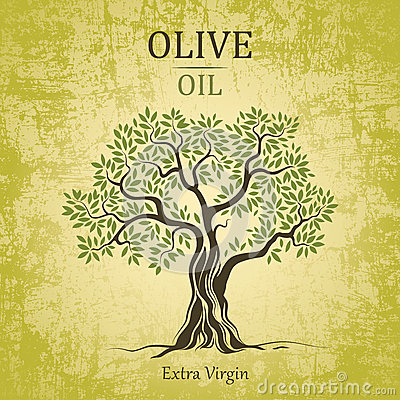 Free Olive Tree. Olive Oil. Vector Olive Tree On Vintag Royalty Free Stock Photo - 36086835