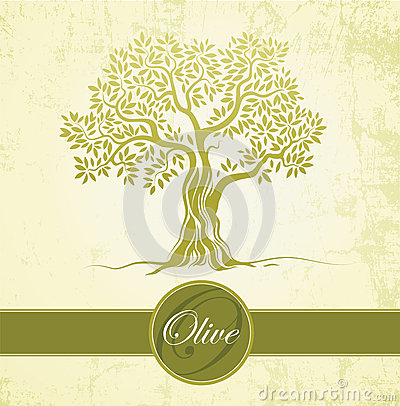 Free Olive Tree. Olive Oil. Vector Olive Tree On Vintage Paper.For Labels, Pack. Royalty Free Stock Photography - 36086817