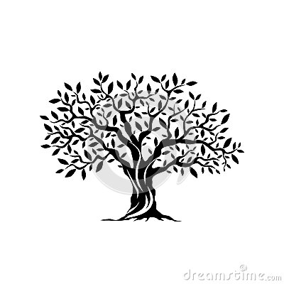 Free Olive Tree Silhouette Icon Isolated On White Background. Stock Photos - 84190613