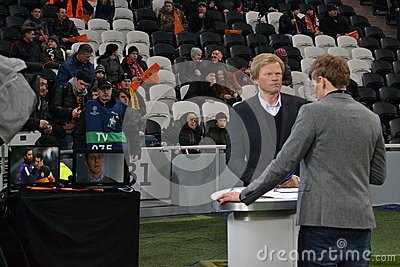 Oliver Kahn at Donbass Arena Editorial Image