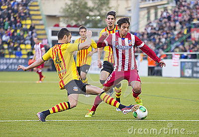 Oliver Torres of Atletico de Madrid Editorial Stock Photo