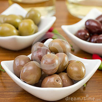 Olives in the bowl