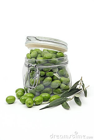 Olives in a jar