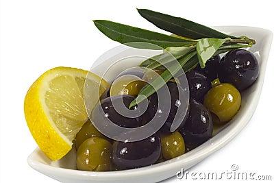 Olives with lemon