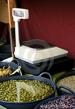 Olives on the market