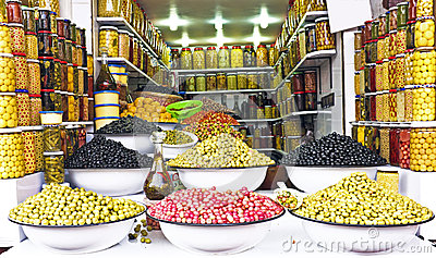 Olives on a market in Morocco