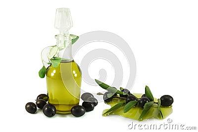 Olives, olive branch and olive oil