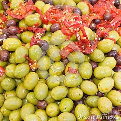 Olives in pickle