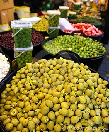 Olives and pickles texture food market perspective